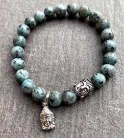 Heren kralenarmband Labadoriet Blue Sage
