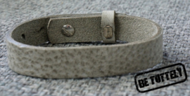 Heren leren armband graphite grey