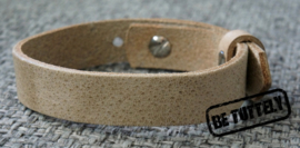 Heren leren armband country grey/brown