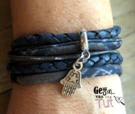 Armband wrap blue hand