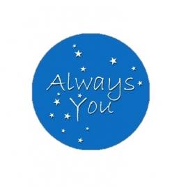 "Tekst slider voor 15 mm armband ""always you"""