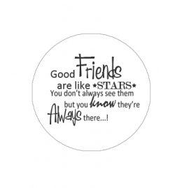 "Tekst slider voor 15 mm armband ""good friends are...."""