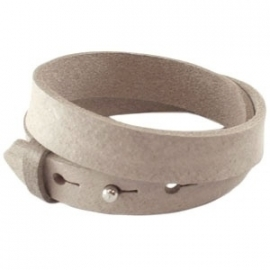 Armband 15 mm country grey dubbel