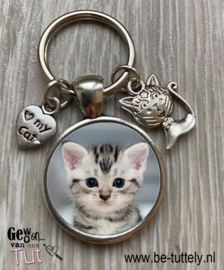 Sleutelhanger Kat met foto