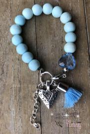 Armbandje Candy Blue