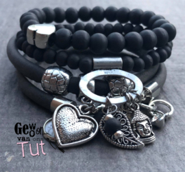 Armbandenset LS Beautiful antraciet