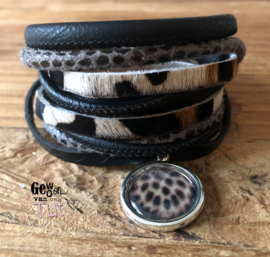 Armbandenset LS wrap Black Grey en Leopard