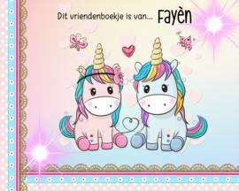 Vriendenboekje Unicorn Sweet met jouw naam! en evt foto