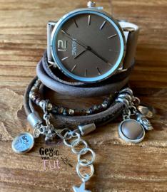 Horloge met armbanden Sand