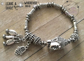 Armbandje Just Silver Buddha Luck