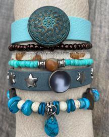 Armbandenset blue brown