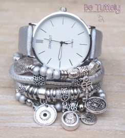 Armbandenset met horloge Silver Dream New
