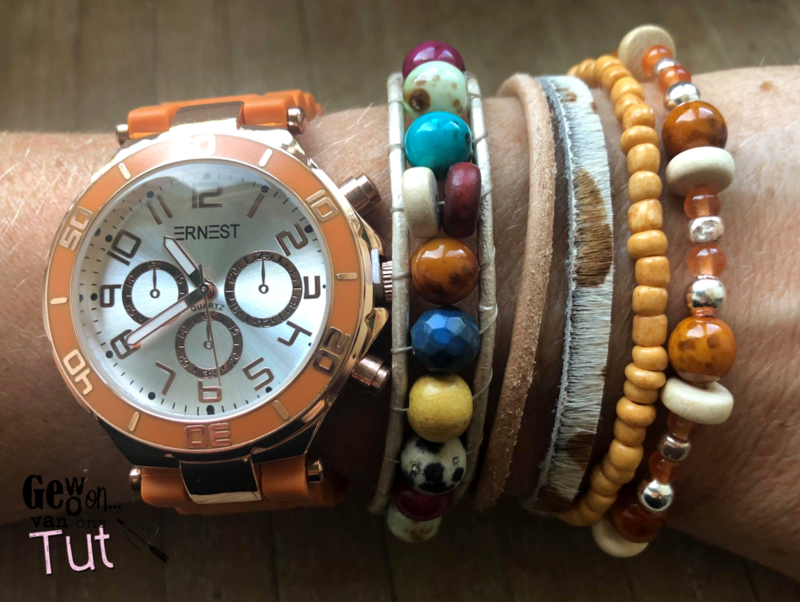 Horloge met armbanden New Brick Rosé and colours