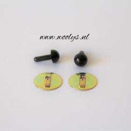 Veiligheidsoogjes Zwart 5 mm
