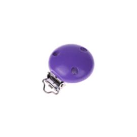 Houten speenclip 35mm - paars