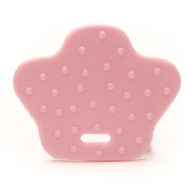 Dierenpoot kunststof  bijtringen - Licht Roze