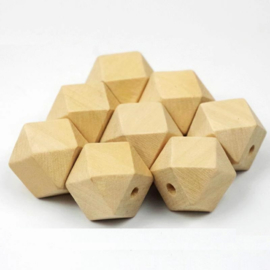 Houten hexagon kraal