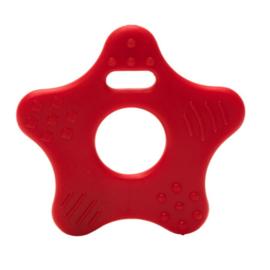 Ster  kunststof  bijtringen - Rood