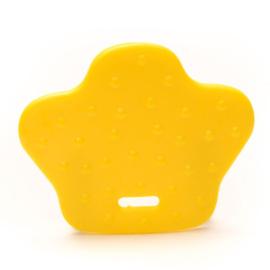 Dierenpoot kunststof  bijtringen - Geel