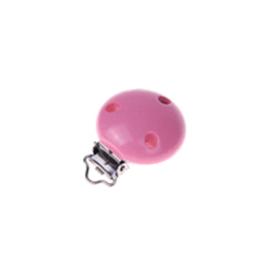 Houten speenclip 35mm - roze
