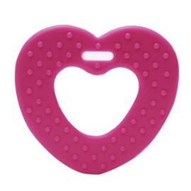 Hart met noppen kunststof  bijtringen - Roze
