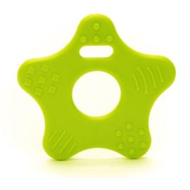 Ster kunststof  bijtringen - Licht Groen (Kiwi)