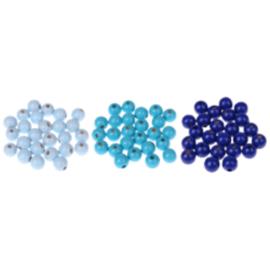 Houten speenclip 35mm - lichtblauw