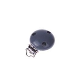 Houten speenclip 35mm - donker grijs