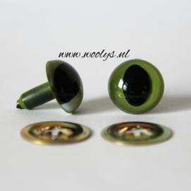 Veiligheidsoogjes Kattenogen Groen 10,5 mm
