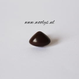 Veiligheidsneus bruin driehoek 15 mm