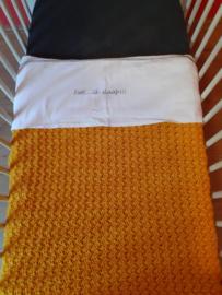 Ledikant deken Mustard 100*150