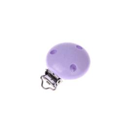 Houten speenclip 35mm - lila