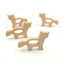 Houten ring vos lopend