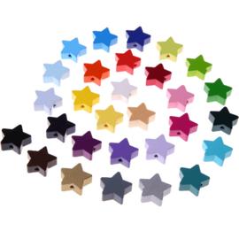 Houten kraal ster