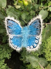 Garenpakket | Miekscreaties Bleekblauw  Vlinder