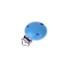 Houten speenclip 35mm - hemelsblauw