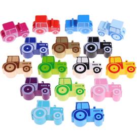 Houten kraal traktor