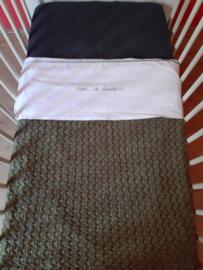 Ledikant deken Olijf 100*150