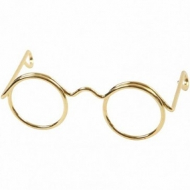 Brilletje goudkleurig 25 mm