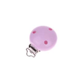 Houten speenclip 35mm - lichtroze