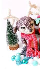 Garenpakket: Kerst CAL Hertje Noël (1 hertje donker bruin)