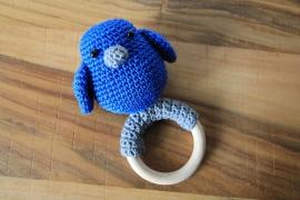 Rammelaar vogel  blauw