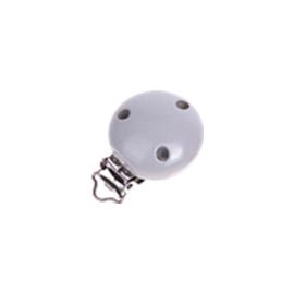 Houten speenclip 35mm - lichtgrijs