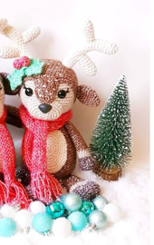 Garenpakket: Kerst CAL Hertje Noël (1 hertje licht bruin)