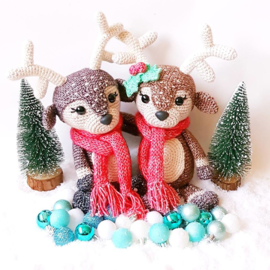 Garenpakket: Kerst Hertje Noël (2 grote hertjes)