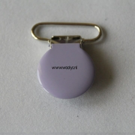 Metalen speenclip rond lavendel