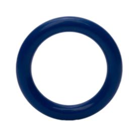 Plastic ringetjes 40 mm Donker Blauw