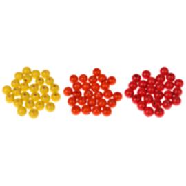 Houten speenclip 35mm - oranje