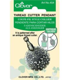 Clover dradensnijder antiek zilver