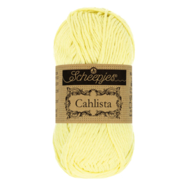 Scheepjes Cahlista 50 gram  Lemon Chiffon 100